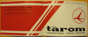 tarom ticket