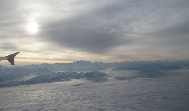 alps view from plane