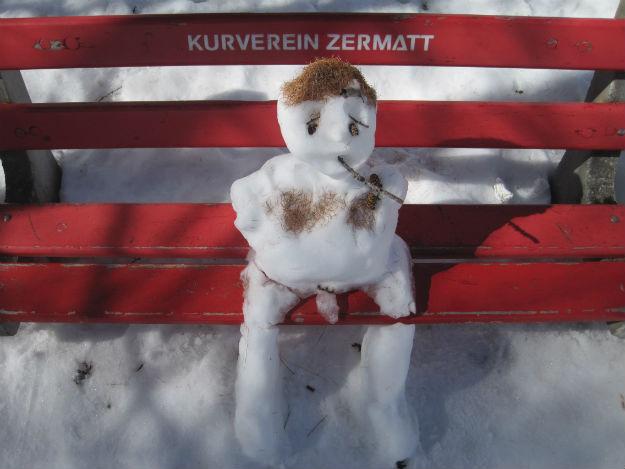 zermatt snowman