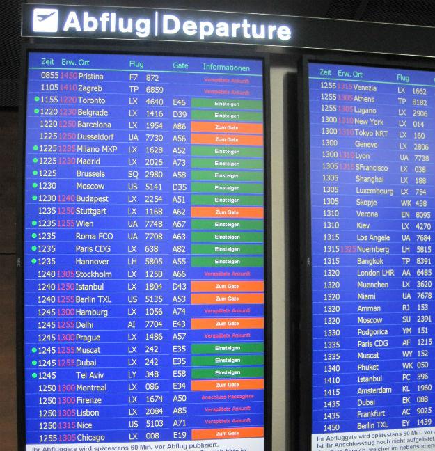 zrh airport schedule