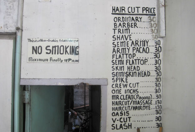 barber shop prices