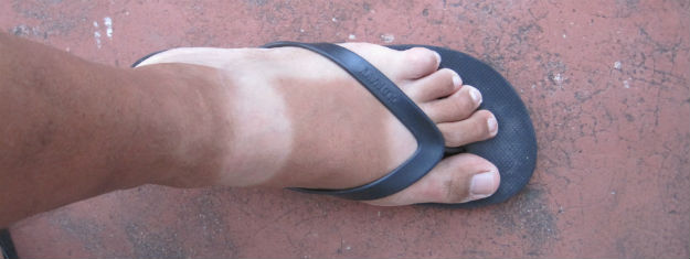 wrong sandal tan