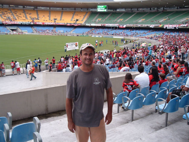 Maracana stadium in between renovations. Very boring, nothing like its glory days.