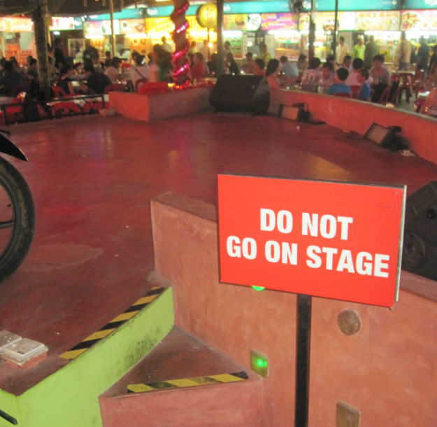 do not go on stage