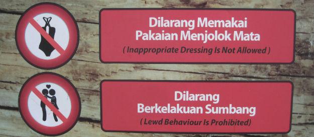 lewd behavior sign