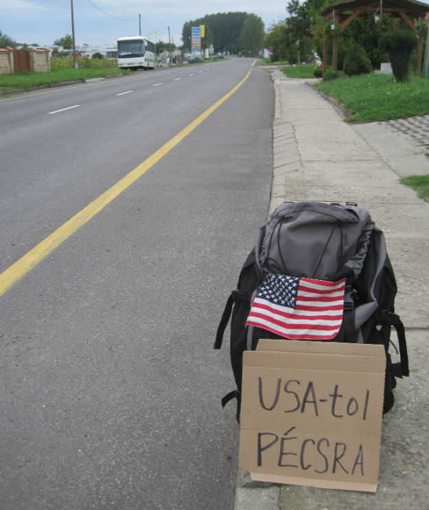 pecs hitchhiking sign
