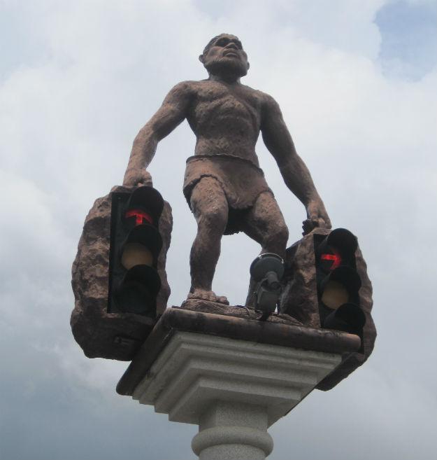 stoplight statue