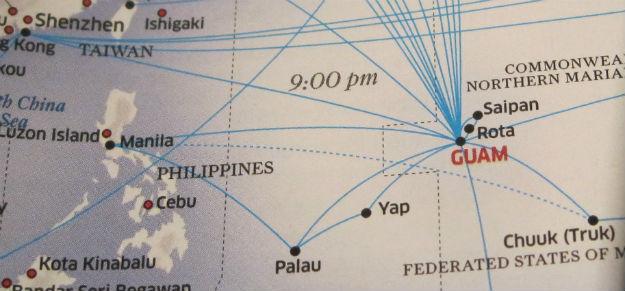 guam manila map