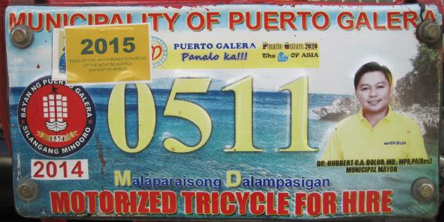 puerto galera license plate
