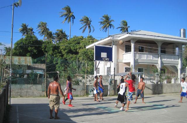 white beach basketball