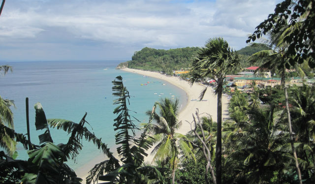white beach overview
