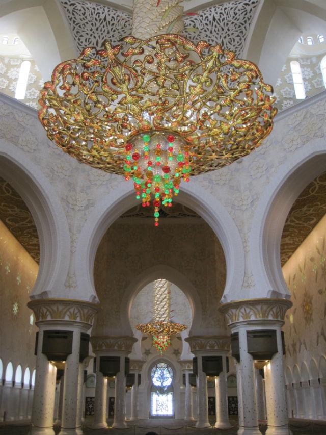 abu dhabi mosque inside