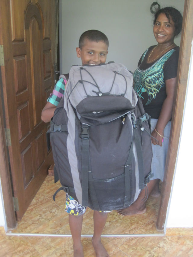 backpacker in training