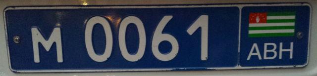 abkhazia police plate