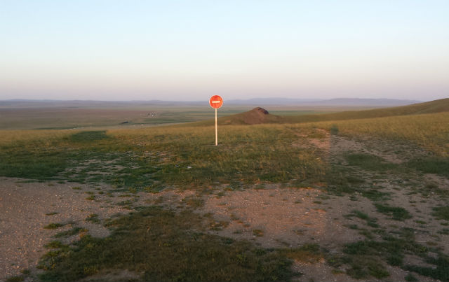 mongolia do not enter sign