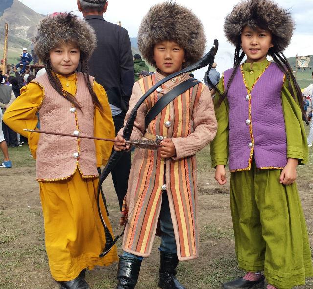 3 kyrgyz kids