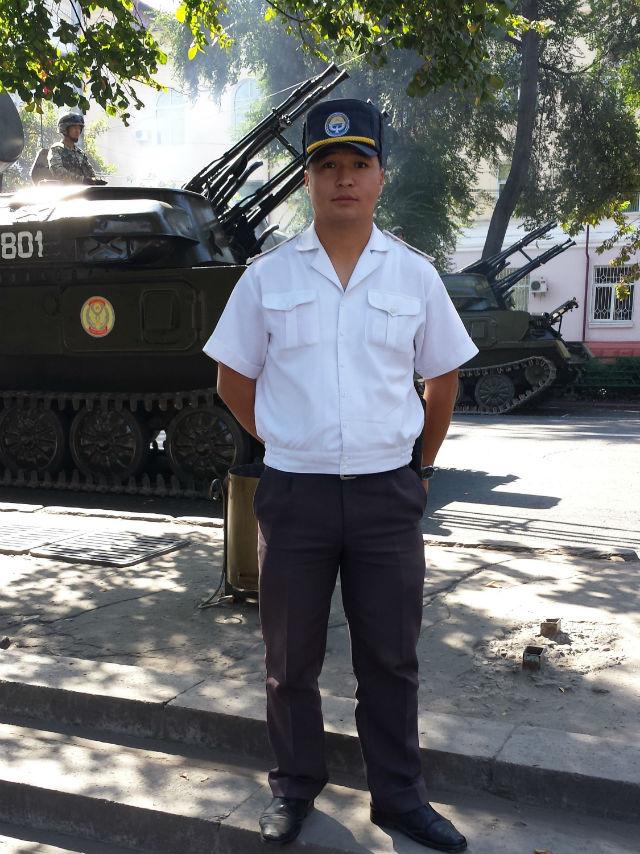bishkek policeman