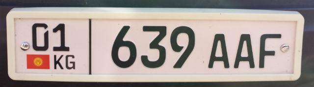kyrgyzstan license plate